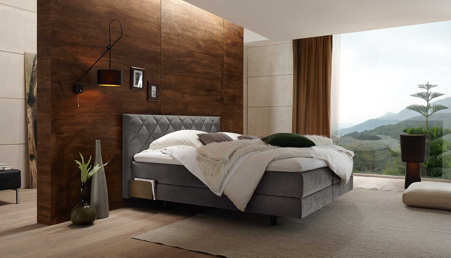 boxspring betten in grosser vielfalt bei m bel suter. Black Bedroom Furniture Sets. Home Design Ideas